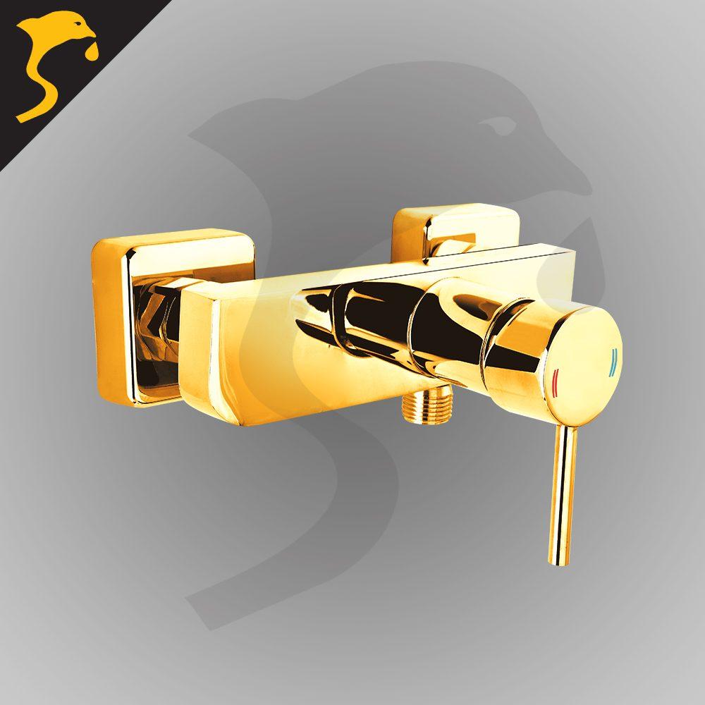 شیر توالت (دستشویی) مدل آکوآ رنگ طلایی
