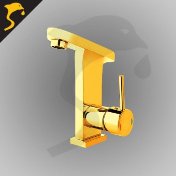 شیر روشویی مدل آکوآ رنگ طلایی
