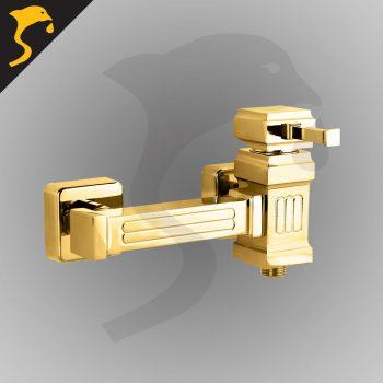 شیر توالت (دستشویی) مدل کتیبه رنگ طلایی