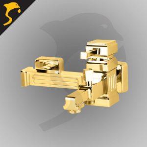 شیر حمام (دوش) مدل کتیبه رنگ طلایی